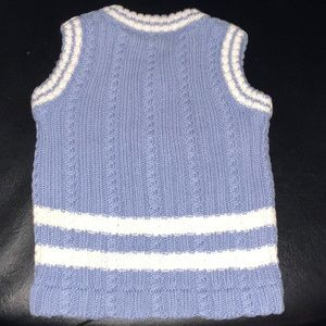 Blue and White Dog Sweater